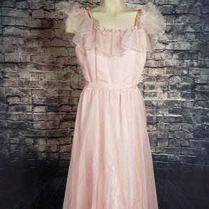 Vintage Fancy Frocks Pink Dress